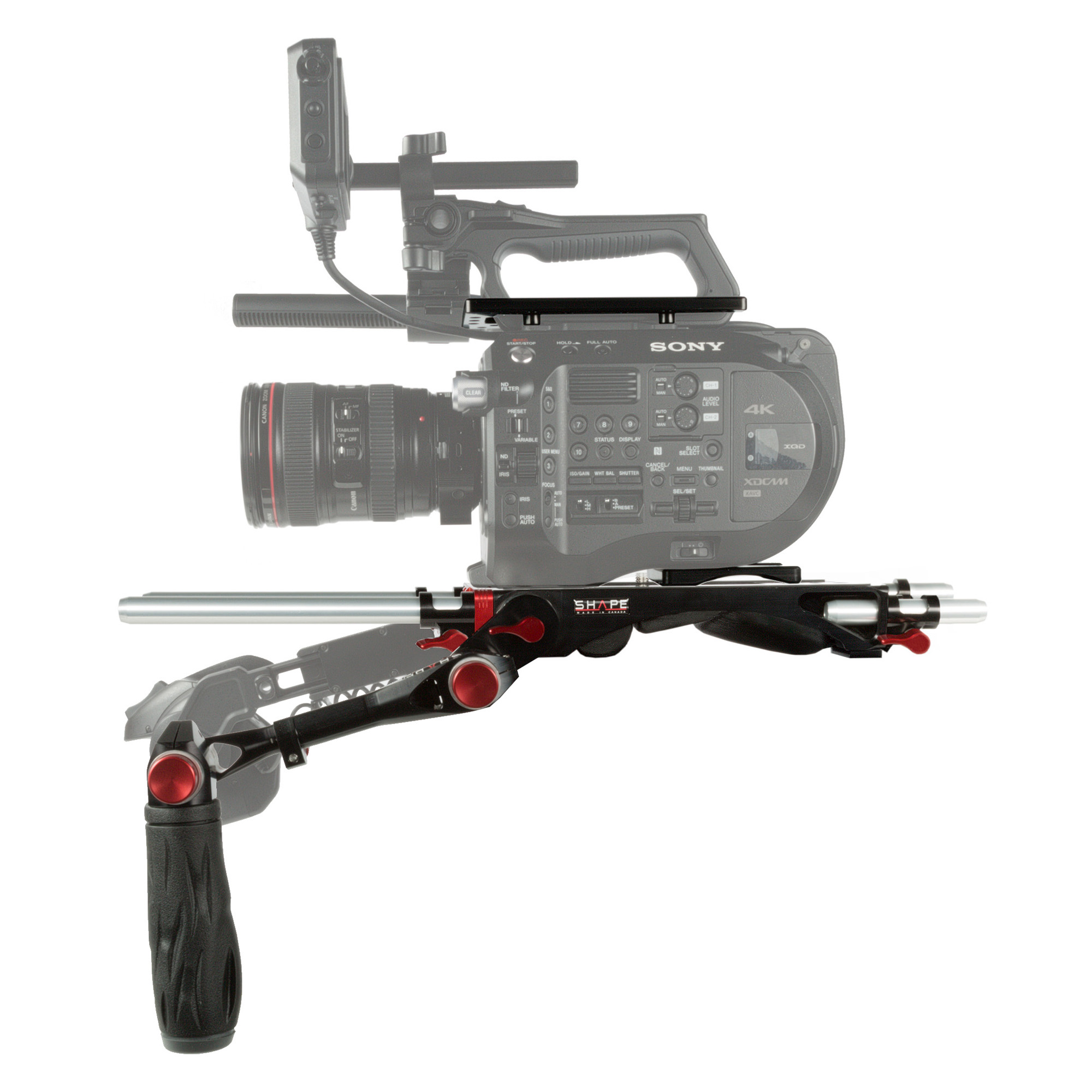 SHAPE FS72BT - SONY FS7M2 Rig Baseplate + Top Plate